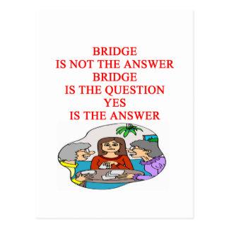 bridge player design postcard