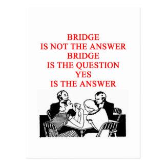 bridge player design postcards