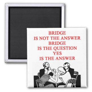 bridge player design square magnet