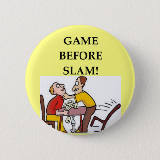 bridge player joke 6 cm round badge
