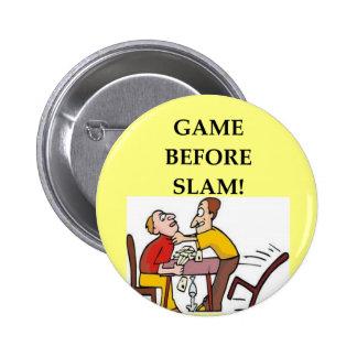 bridge player joke 6 cm round badge