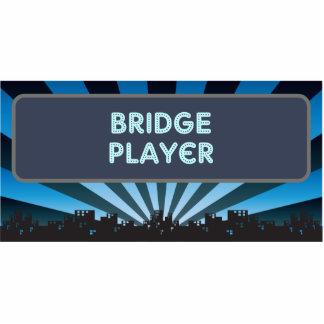Bridge Player Marquee Photo Sculptures