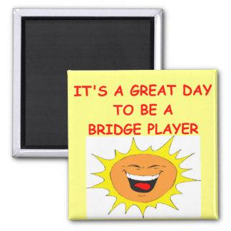 BRIDGE player Square Magnet