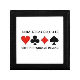 Bridge Players Do It With The Endgame In Mind Jewelry Box