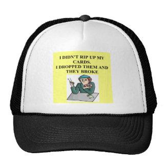 bridge poker card player game design hat