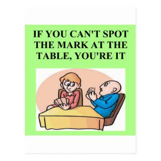 bridge poker card player game design postcard