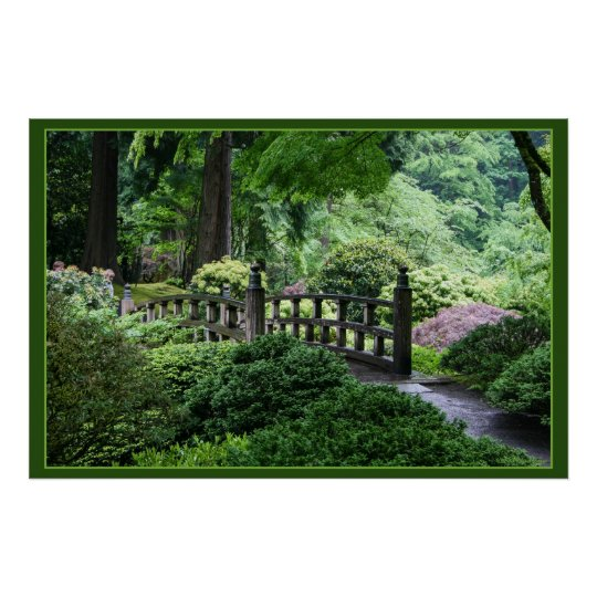 Bridge - Portland Japanese Garden Poster