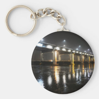 Bridge, Rain, Seoul Basic Round Button Key Ring