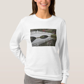 Bridge reflecting on pond, Magnolia T-Shirt