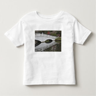 Bridge reflecting on pond, Magnolia Toddler T-Shirt