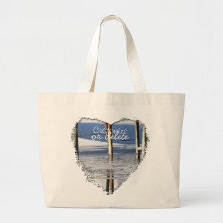 Bridge Reflection; Customizable Jumbo Tote Bag
