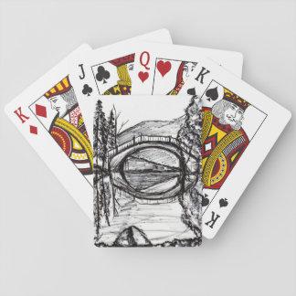 Bridge Reflection Sharpie Art Card game Poker Deck