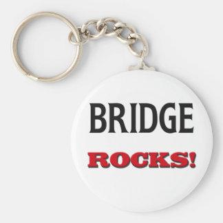 Bridge Rocks Basic Round Button Key Ring