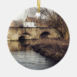 bridge round ceramic decoration