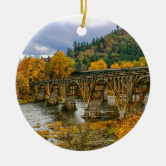 Bridge Round Ceramic Decoration