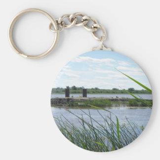 Bridge Ruin Basic Round Button Key Ring