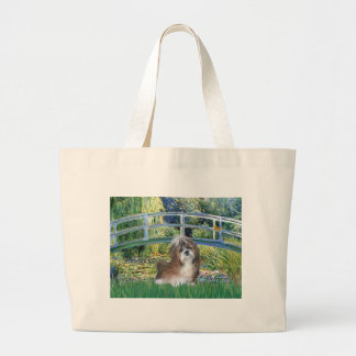 Bridge - Shih Tzu (brown and white) Large Tote Bag