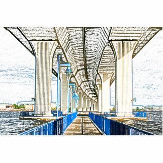 bridge sketch jensen beach. photo cutout