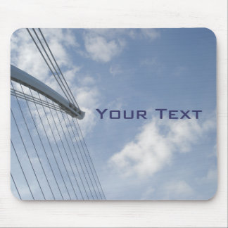 Bridge Spine and Cables Construction Art Mousepad