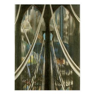 Bridge, Stella, Vintage New York City Architecture Postcard