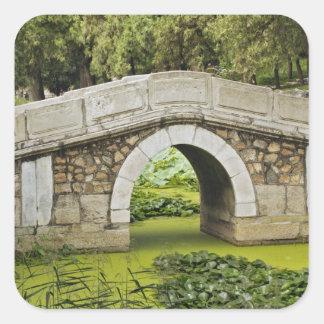 Bridge, Summer Palace, Beijing, China Square Stickers