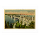 Bridge to Belle Isle Detroit, Michigan, Vintage Postcard