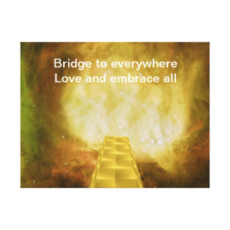 Bridge to everywhere stretched canvas prints