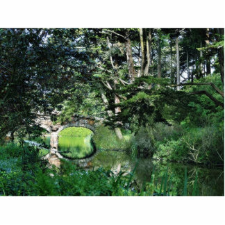 Bridge To Strawberry Hill On Stow Lake In Golden G Standing Photo Sculpture