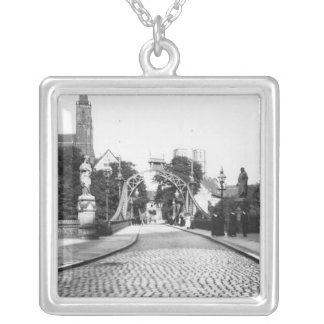 Bridge to the Cathedral, Breslau  Poland, c.1910 Silver Plated Necklace
