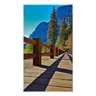Bridge to the Mountain, Yosemite Poster