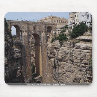 Bridge to the Old Quarter, Ronda, Spain Mousepad