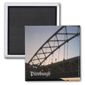 Bridge to Twilight Square Magnet