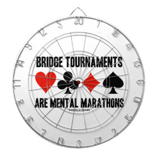 Bridge Tournaments Are Mental Marathons Card Suits Dartboard With Darts