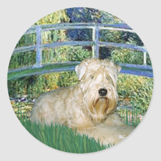 Bridge-Wheaten Terrier 1 Round Sticker