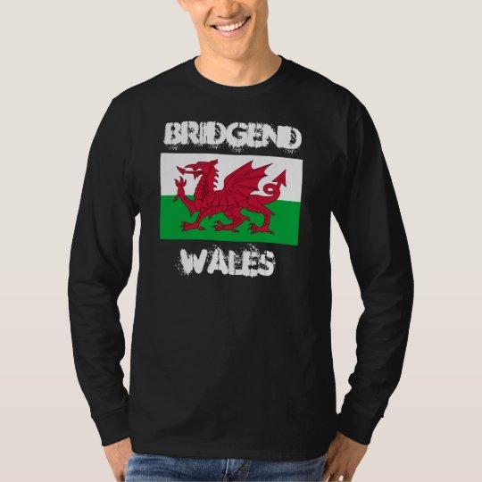 Bridgend, Wales with Welsh flag T-Shirt