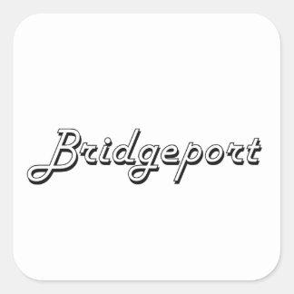 Bridgeport Connecticut Classic Retro Design Square Sticker