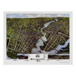 Bridgeport, CT Panoramic Map - 1875 Poster