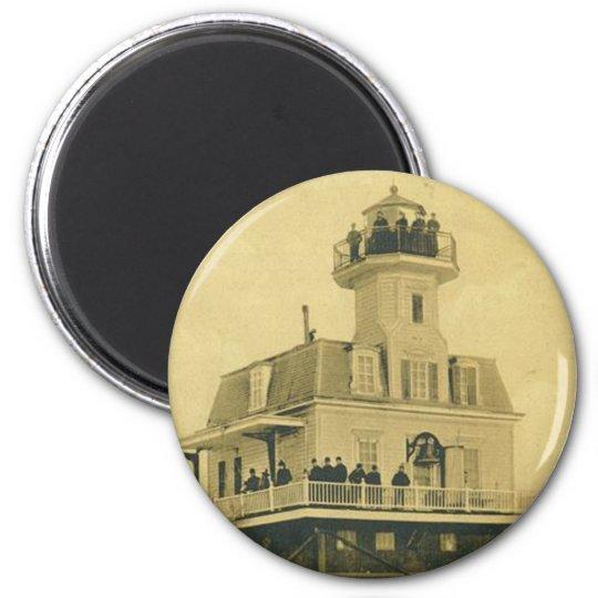 Bridgeport Harbour Lighthouse 6 Cm Round Magnet