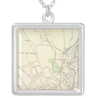 Bridgeport, north silver plated necklace
