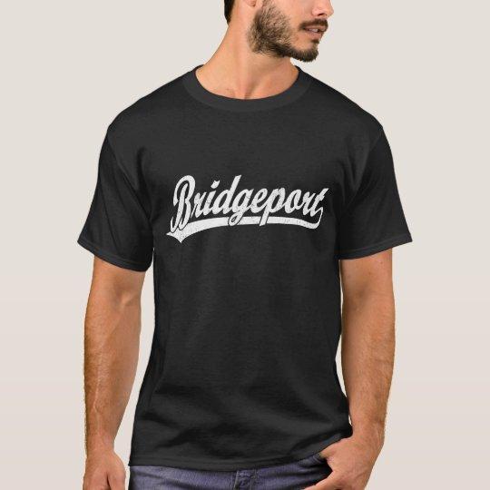 Bridgeport script logo in white T-Shirt