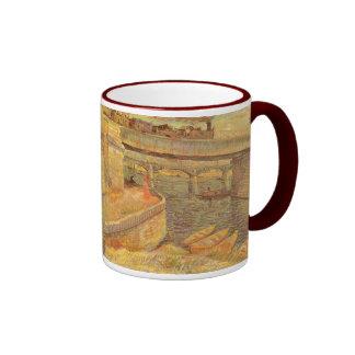 Bridges Across the Seine by Vincent van Gogh Ringer Coffee Mug