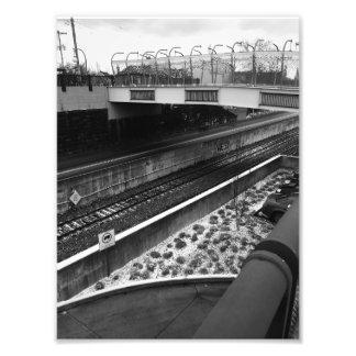 Bridges and Rails in Pittsburgh Photo Print