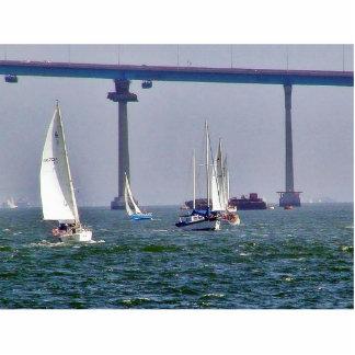 Bridges Bays Coronado Sailboats Ocean Sails Acrylic Cut Out