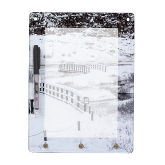 Bridges in Thingvellir National Park Iceland Dry Erase Board