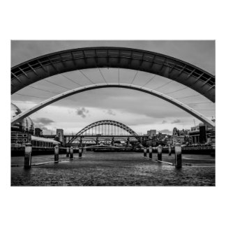 Bridges, Newcastle upon Tyne Print/Poster Poster