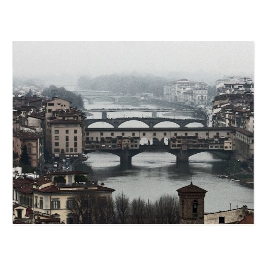 Bridges of Florence, Italy Postcard