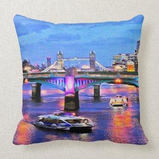 Bridges of London Throw Pillow