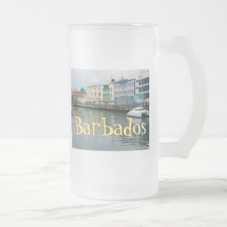 Bridgetown, Barbados Frosted Glass Mug