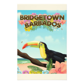 Bridgetown Barbados Toucan travel poster Stationery