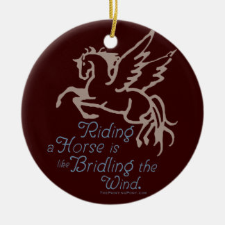 Bridle The Wind Christmas Ornament